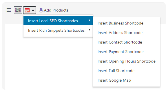 local seo - shortcode - Local SEO